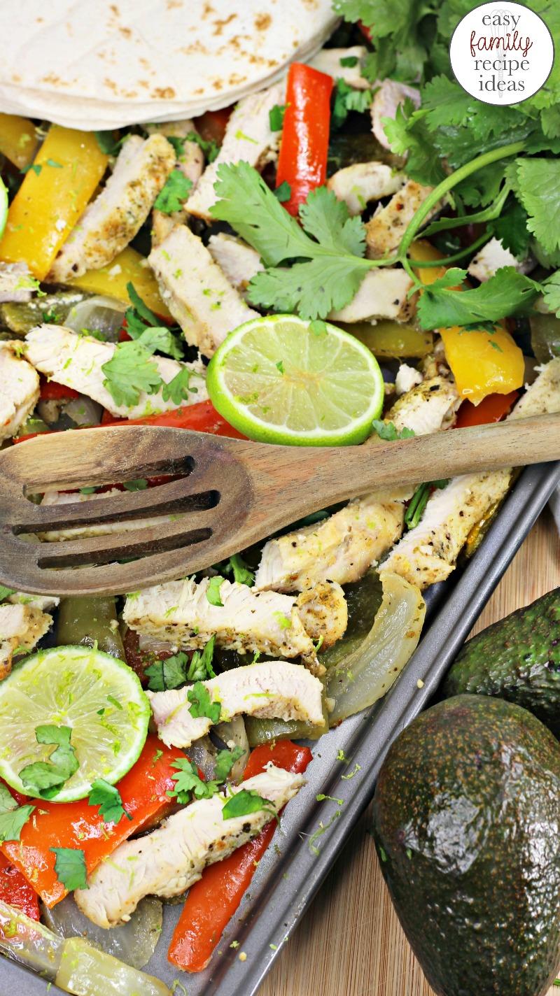 Sheet Pan Cilantro Lime Chicken, This is a healthy baked Cilantro Lime Chicken recipe perfect for the whole family to eat, Sheet Pan Dinners are an easy one pot dish which means less mess, Chicken Dinners, Sheet Pan Dinners Healthy