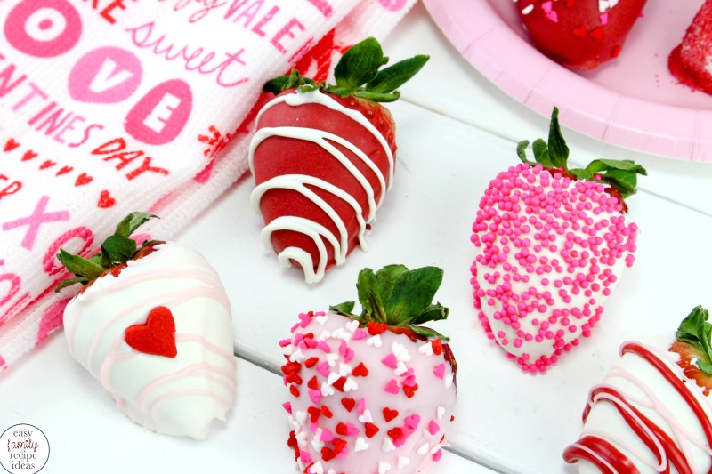 There is nothing better than Chocolate Covered Strawberries for Valentine's Day. These sweet treats are easy to make and can be a sexy snack for your sweetheart or a scrumptious dessert for your kids.These Valentine's Day Strawberries are the best! Valentine's Day Recipes