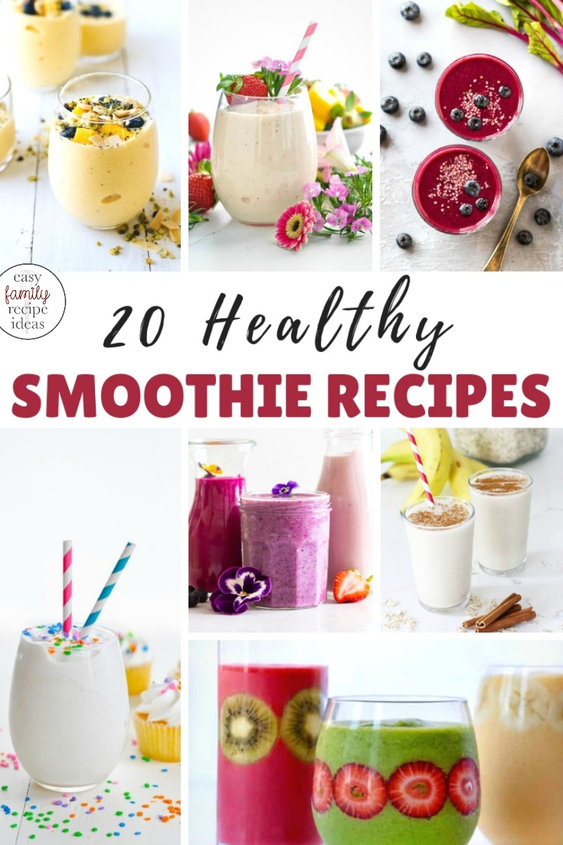 22 Healthy Smoothie Recipes, Easy Healthy Smoothie Recipes, Healthy Smoothies are a quick breakfast on the go, a filling snack, or a perfect protein drink for Kids and Adults, You will find healthy, delicious smoothie recipes including strawberry smoothies, green smoothies, fruit smoothies and protein smoothies.