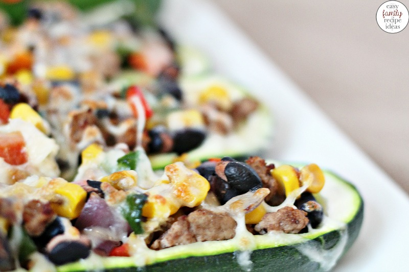 Make this Healthy Taco Recipe, and your friends and family will love you for it. Taco Zucchini Boats, Healthy ground turkey recipe, delicious spicy tacozucchini boats are a healthy dinner idea. Stuffed tacozucchini boats for Taco Tuesday, This Mexicanzucchini boat is good for you.