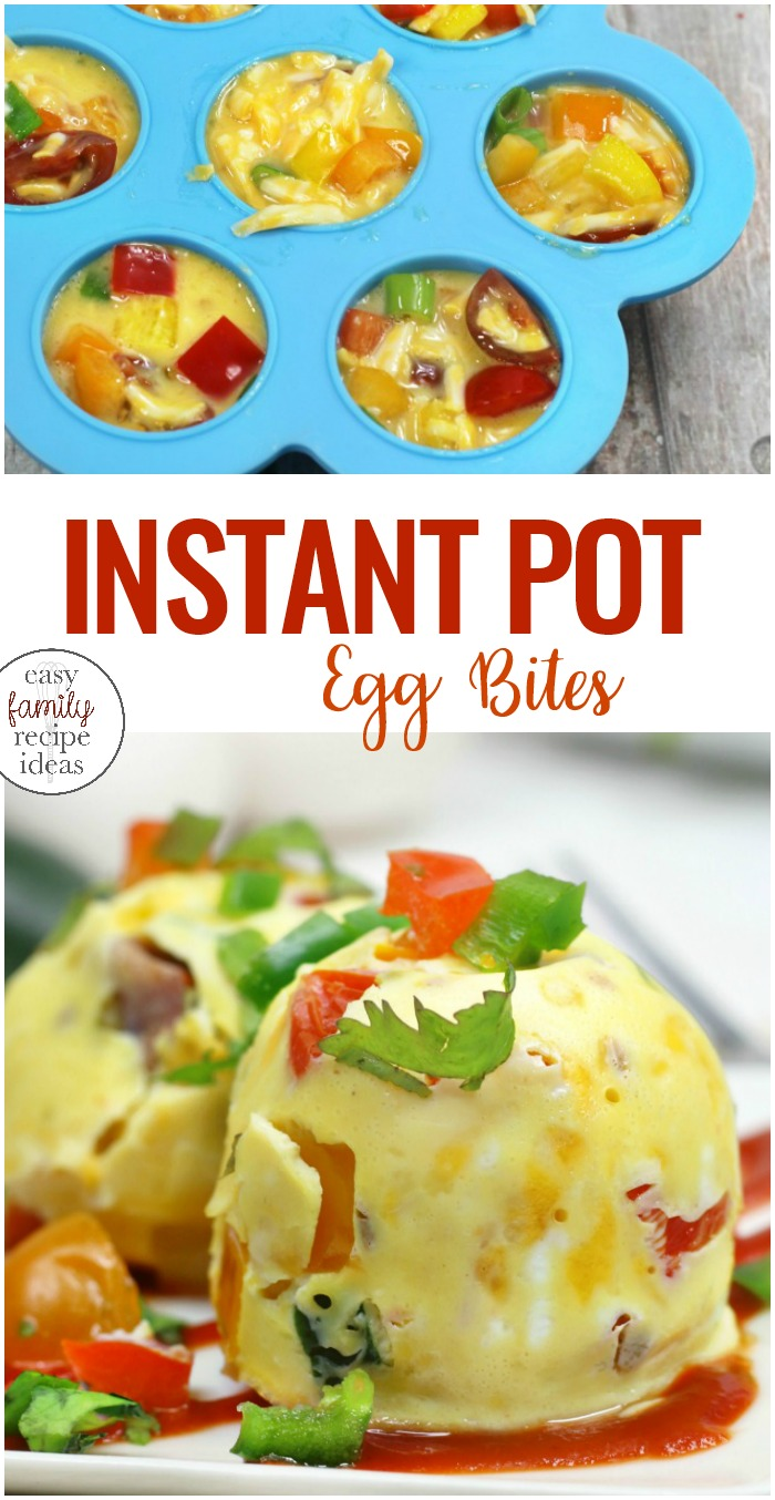 Instant Pot Egg Bites, Keto Recipe, Weight Watchers, healthy recipes, Start your day off right with this easy to make, on the go breakfast idea. These Instant Pot Egg Bites are healthy and delicious. Kids and adults love this Veggie Egg Bites recipe. If you are looking for an easy Instant Pot Breakfast recipe this is it! Healthy Egg Bites