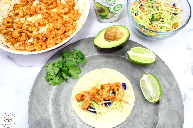I LOVE SHRIMP TACOS! Shrimp tacos, fish tacos, chicken tacos, and every other taco recipe, is a favorite for this family. In fact, I am sure after trying this Easy and Healthy Shrimp Tacos Recipe you'll be in love with them too. Shrimp Tacos with Cabbage Slaw, SHRIMP TACOS with Cilantro Lime Sauce, Easy Shrimp Tacos are The Best!