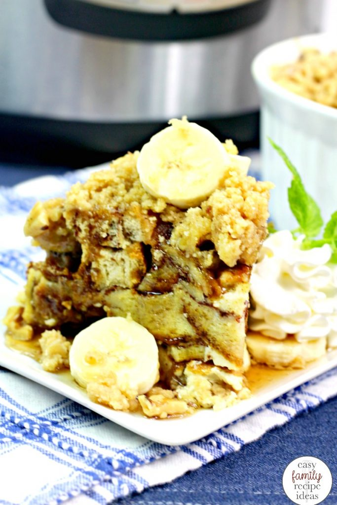 Instant Pot French Toast, Instant Pot Breakfast Recipe, This Instant Pot French Toast is the most delicious and easy banana nut french toast there is. Instant Pot Banana French Toast, This delicious easy breakfast casserole is perfect for Easter Brunch or a family breakfast idea.