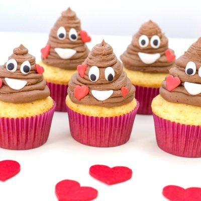The Best Poop Emoji Valentine Cupcakes