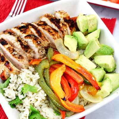 The Best Grilled Chicken Fajita Bowls