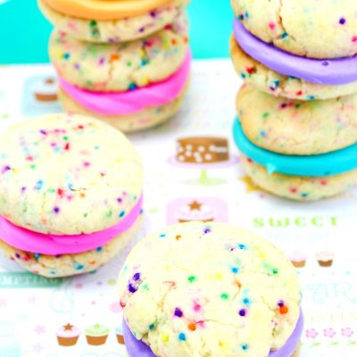 Cake Mix Whoopie Pies – The Best Rainbow Whoopie Pies