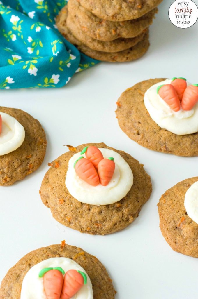 Carrot Cake Cookies are the perfect treat for Easter, a Mother's Day Dessert or Spring Cookie Idea. Soft baked Carrot Cookies that look adorable and taste scrumptious. healthy carrot cake cookies, The Best Carrot Cookies Recipe