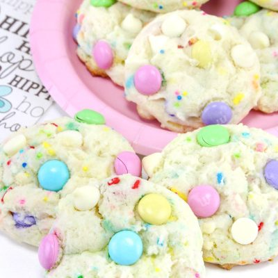 Funfetti Cake Cookies for Easter
