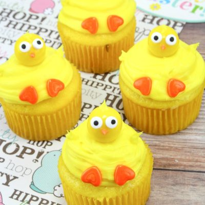 Baby Chick Cupcakes for Easter