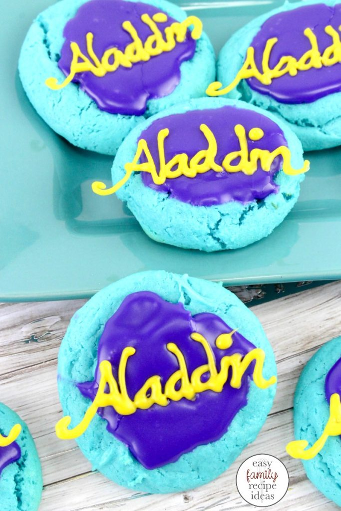 These Aladdin Cake Cookies are perfect for anyone that loves the movie Aladdin. Delicious Cake Mix Cookies that are easy to make. Whether you are preparing for a fun Arabian themed party, or you are looking for  a delicious cookie recipe this is it!