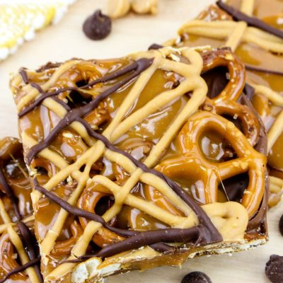 Chocolate Caramel Pretzel Bars – Easy Sweet and Salty Snack