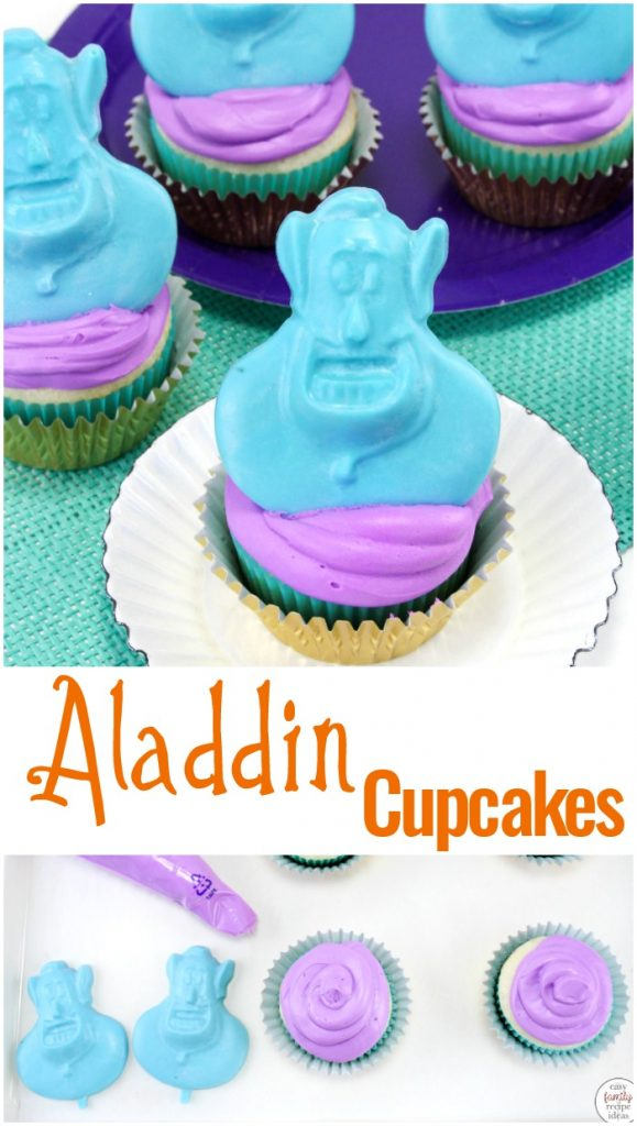 These easy to make Aladdin Cupcakes are perfect for any Disney family like us. Making Aladdin themed cupcakes only takes a few steps, and all the kids in the neighborhood will want to eat one. You'll Love The Disney Cupcakes and Disney Cupcake Ideas Here