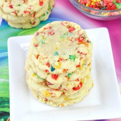 Fruity Pebbles Cookies – Easy Pudding Cookies