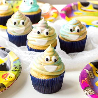 Poop Emoji Cupcakes for the Cutest Birthday Party Food