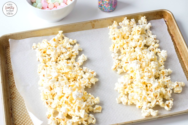 How To Make Unicorn Popcorn, This Easy Unicorn Popcorn makes a fun and delicious party snack. Serve this colorful treat for your child's unicorn theme birthday party or Sleepover treat, kids and adults will love how delicious this popcorn recipe is. Perfect for a Mermaid Theme too!