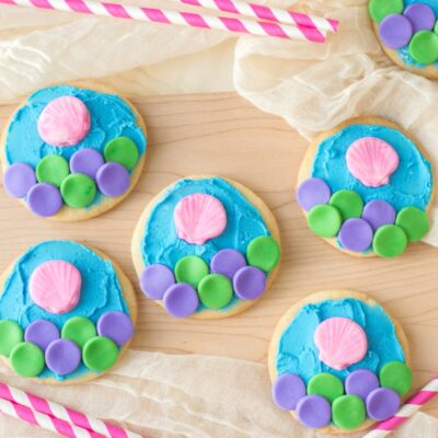 Mermaid Cookies for an Under the Sea Party