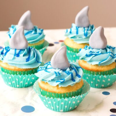 Shark Cupcakes a Perfect Under the Sea Party Idea