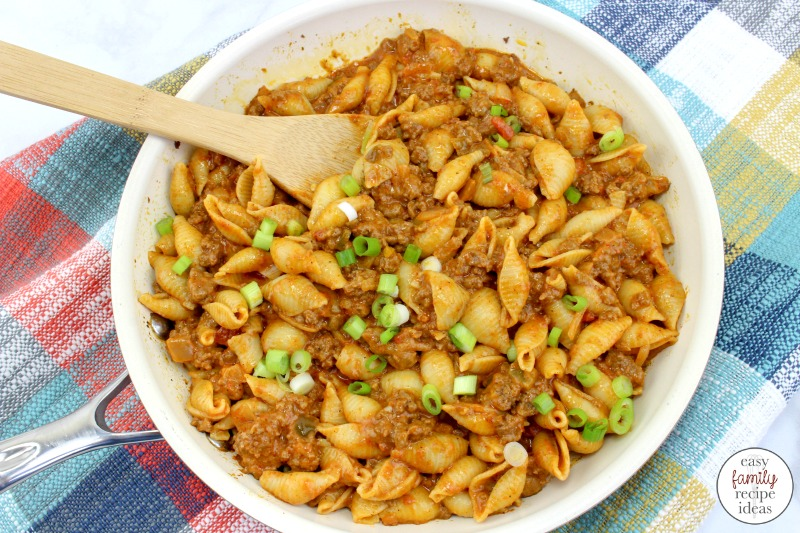 This Taco Pasta is easy to make and tastes delicious!  This Cheesy Taco Pasta has everything you love about pasta and tacos in one dish. You'll get tender beef tacos with a little spiciness of Mexican flavor perfect for the whole family. Easy Recipe for kids and adults and it's Delicious!