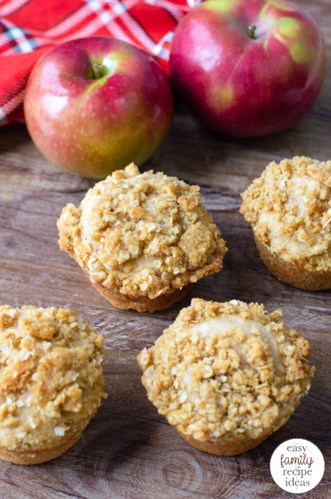 These Apple Muffins are the perfect way to start the day. Not only are they sweet and delicious, but they are the best fall breakfast idea. Get ready to see how easy it is to Make Apple Muffins with Crumble Topping that you'll want to snack on all day. Homemade Apple Muffins for the Win!