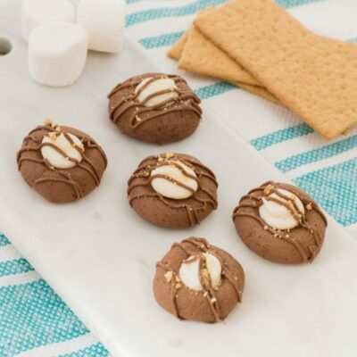 S'mores Thumbprint Cookies Perfect Campfire Cookie