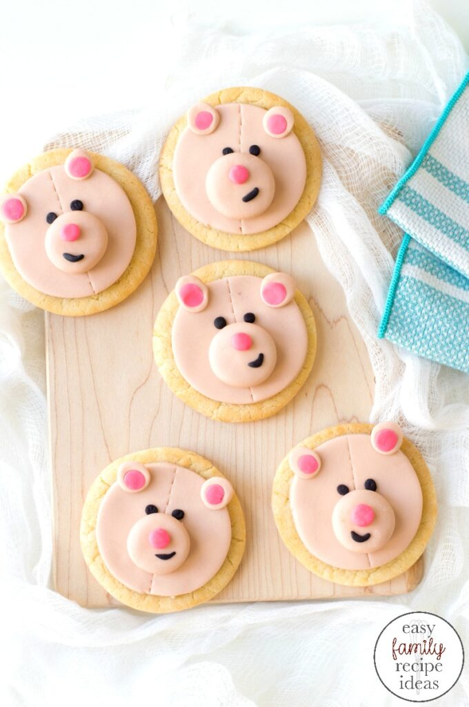 These teddy bear cookies are so much fun to decorate. And once you make them, you might just think they're too cute to eat! This Teddy Bear Cookies Recipe is perfect for a preschool teddy bear picnic or birthday party treat. Enjoy this cute and tasty Bear Face Cookie