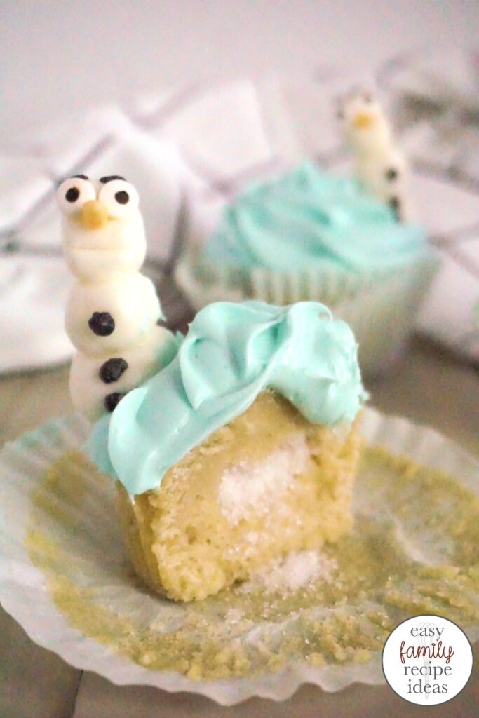 These Olaf Cupcakes are just the best. Having Olaf be the star of the show is so much fun. You're going to love every single bite of these Disney Frozen Cupcakes. Perfect for a Frozen themed birthday party, these Frozen cupcakes are certain to be the hit of the day. Or serve these up for a Disney movie night with the family.