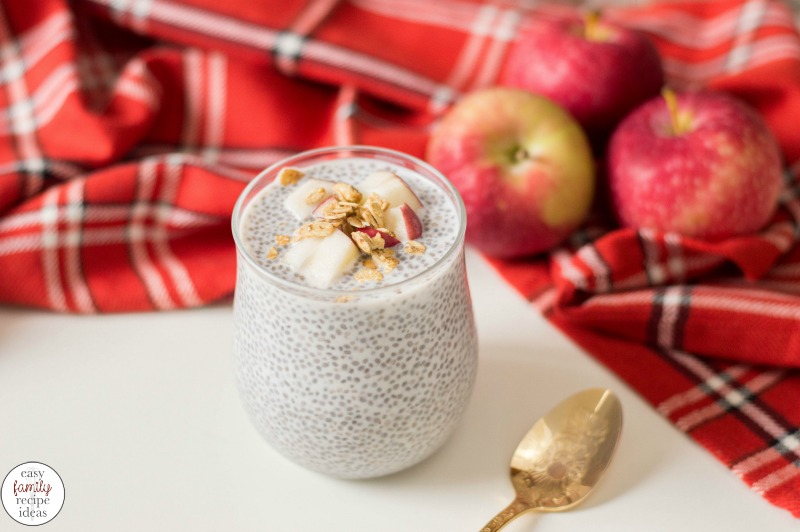 This Healthy Apple Cinnamon Chia Pudding recipe is so simple to make! With just a few ingredients and no baking needed, it's an easy and healthy breakfast idea. Apple Cinnamon Pudding is a delicious fall breakfast or afternoon snack, See how easy it is to make this chia seed pudding recipe