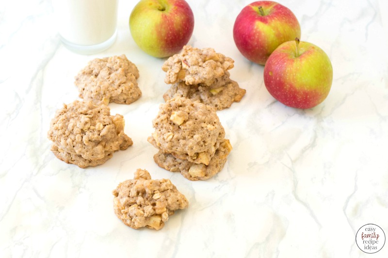These Apple Oatmeal Cookies just might be the best part of any fall day! This Apple recipe is so simple and delicious and perfect for using up your apples. You're going to love the taste and flavor of these Oatmeal Apple Cookies. Not only do they taste amazing, but they're actually so simple to make, too.