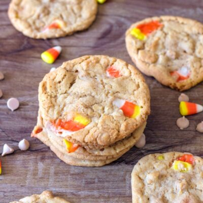 Peanut Butter Candy Corn Cookies – Perfect Halloween Treat