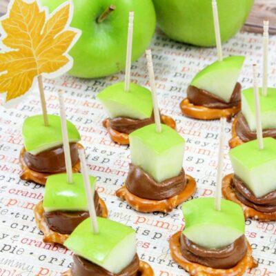 Caramel Apple Bites Recipe Easy Fall Snack Idea