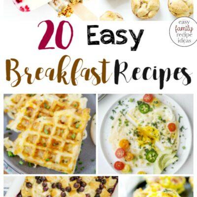 25+ Healthy Breakfast Ideas – Easy Breakfast Recipes for the Family