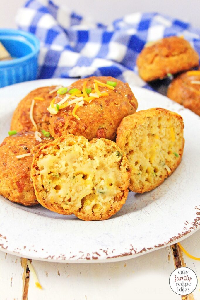 These Gluten Free Cheddar Biscuits are easy to make, crunchy, soft, and really delicious! For these Cheesy Biscuits all you need to do is add a few ingredients to make these the most delicious gluten-free biscuits you'll ever eat. Cheddar Garlic Chive Biscuits