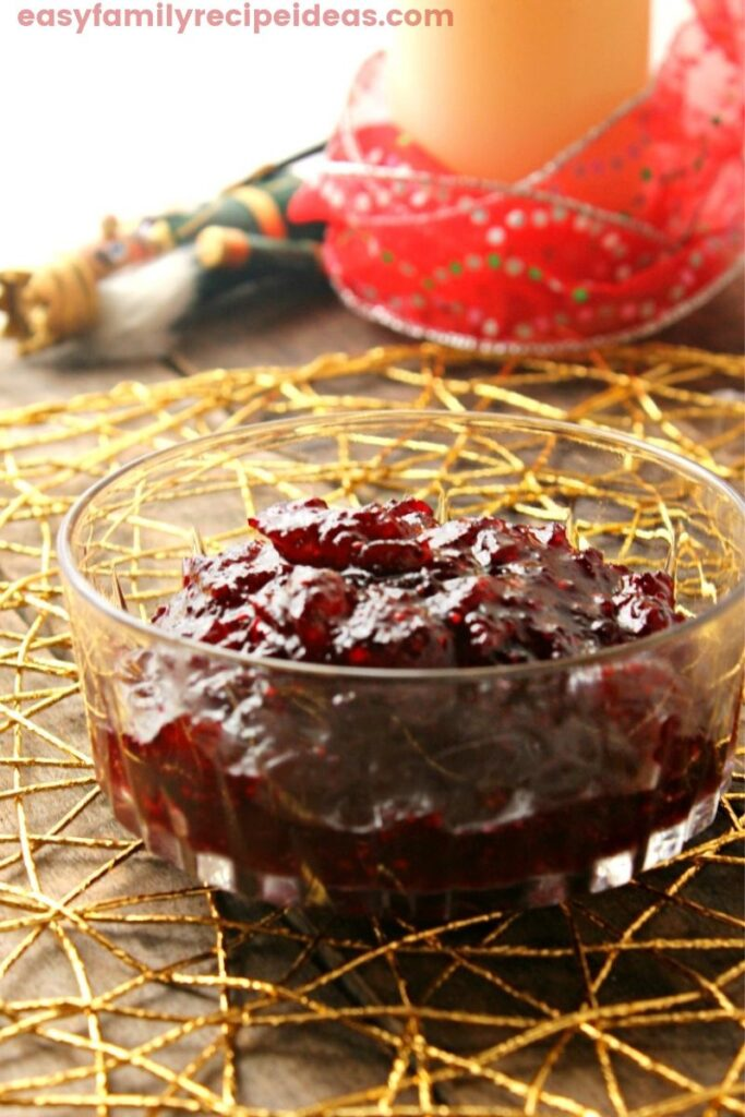 Homemade Cranberry Sauce that everyone loves. This delicious cranberry recipe is so easy to make, it only takes a few ingredients, and best of all you can make it the day before. Easy Cranberry Sauce is the perfect make-ahead dish for Thanksgiving or Christmas side dish.