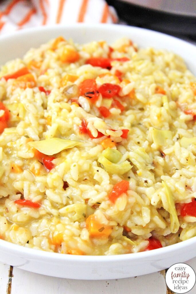 Risotto is a great dish and with this Easy Instant Pot Risotto you're done in under 45 minutes, start to finish! Parmesan Risotto Recipe is the perfect dish to make for a cool Fall evening, and it's so healthy. See How to Make Risotto in an Instant Pot with this Easy Risotto Recipe