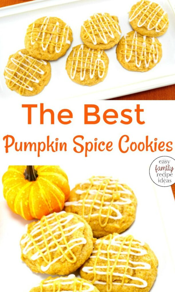 These pumpkin spice cookies are great for a fall treat. Easy to make Pumpkin Cookies made with pumpkin puree, you're going to love their taste. These Pumpkin Spice Cookies are the best fall dessert make them for an afternoon snack, Chewy Pumpkin Spice Cookies