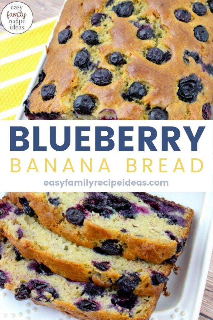 Get ready to fall in love with the taste of this Banana Blueberry Bread. It's packed full of fresh blueberries with a hint of banana flavor. If you are looking for The Most Amazing Blueberry Bread Ever This is the recipe for you. Easy to make Homemade Blueberry Banana Bread