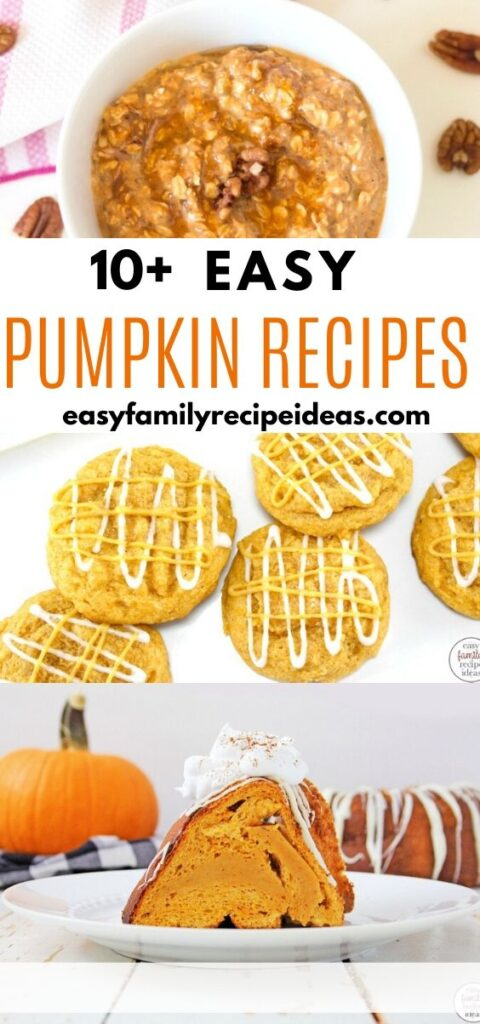 Pumpkin tastes amazing in cookies, cupcakes, bread, cakes, coffee... you name it. Pumpkin Recipes are yummy! You'll love these Easy Pumpkin Recipes as much as we do. Everything from Pumpkin Energy Bites, Pumpkin Cookies, Pumpkin Muffins, and even Pumpkin Waffles. You'll Love these Pumpkin Recipe Ideas for Fall.
