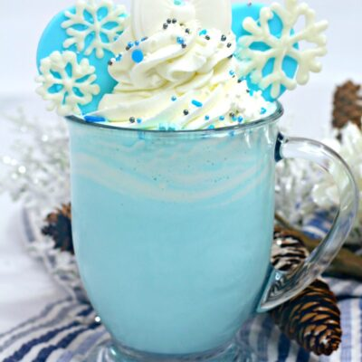 Frozen Themed Hot Chocolate Recipe for The Best Disney Drink Idea