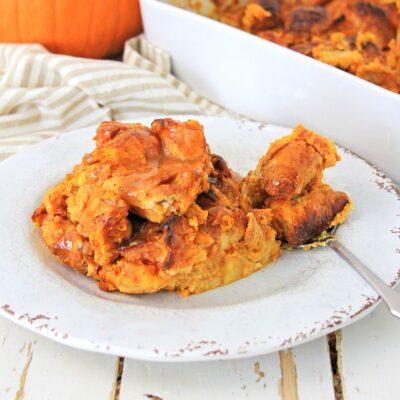 Pumpkin Spice Croissant Bread Pudding – Easy Fall Dessert Recipe