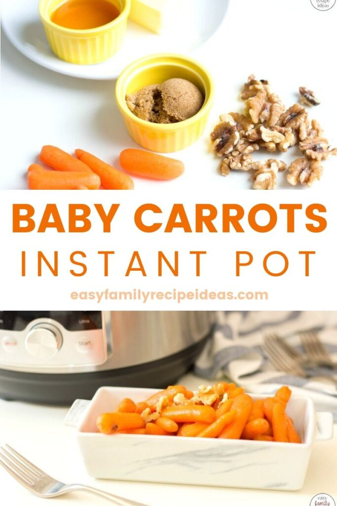 These Instant Pot Baby Carrots are the easiest side dish, ever! Perfect for a weeknight dinner or as a delicious holiday recipe. Easy Glazed Baby Carrots for a Thanksgiving Side Dish or Serve these up for your Christmas Dinner or any Easy Family Recipe.