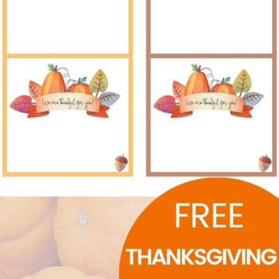 Free Thanksgiving Place Cards – Editable Free Printables for Thanksgiving