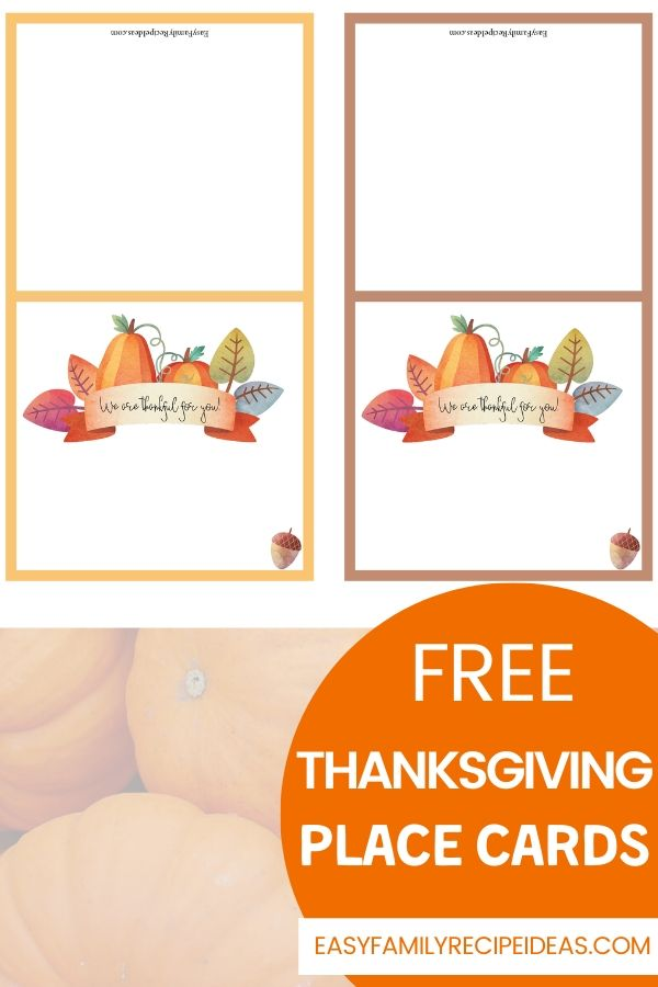 Free Thanksgiving Place Cards Editable Free Printables For Thanksgiving Easy Family Recipe Ideas