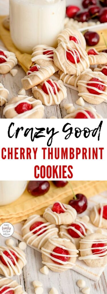 The Best Cherry Thumbprint Cookie Recipe you'll ever taste! Christmas Cherry Cookies that are DELICIOUS! Cherry Almond Cookies, Maraschino Cherry Thumbprint Cookies This Thumbprint Cookie Recipe Can easily be changed for any flavor filling! They make perfect Christmas Cookies too!