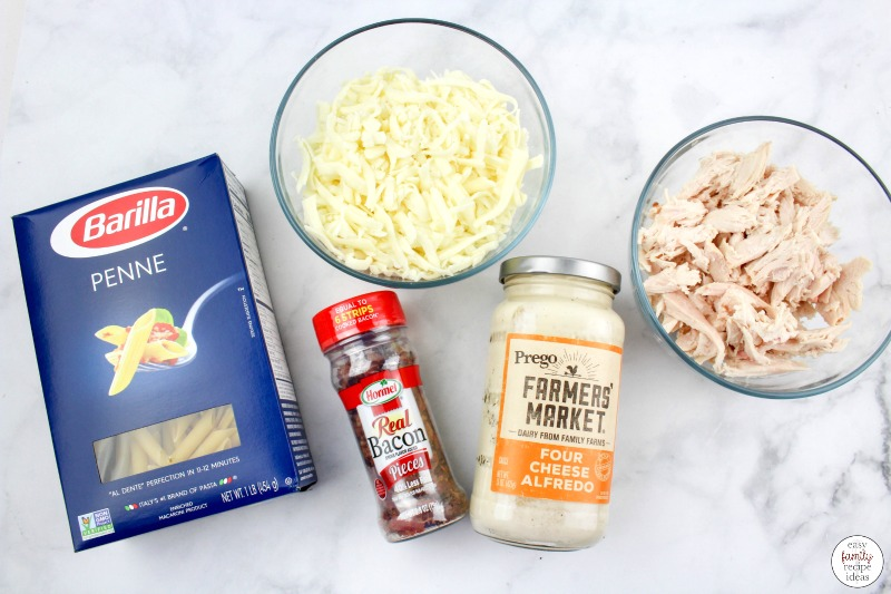 This Chicken Alfredo Bacon Ranch Pasta recipe is the perfect easy weeknight dinner. It's so simple and delicious and something the whole family will love. The Best Chicken Bacon Ranch Casserole you can make in less than 30 minutes... Delicious!