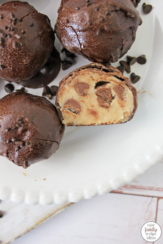 You don't want to miss out on these Chocolate Chip Cookie Dough Bites! They're simple and easy to make and a great on the go snack. Amazing Edible Chocolate Chip Cookie Dough is amazing. The Best Easy Cookie Dough Bites Recipe