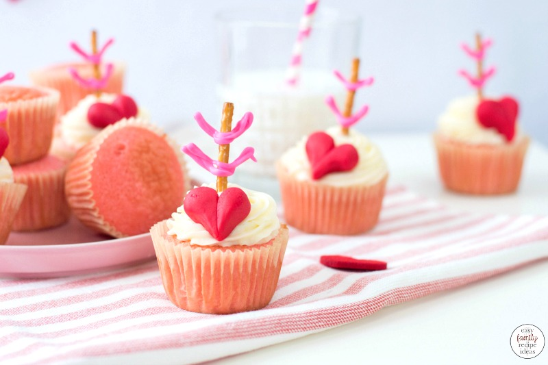 These Cupid Valentine Cupcakes are such a great Valentine's Day Treat! They're super cute, delicious and so much fun to make! Your friends and family will LOVE these Valentine's Day Cupcakes and adorable Valentine cupcakes decorating ideas. So many amazing Valentine Cupcake Ideas