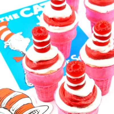 Cat in the Hat Cupcakes Dr. Seuss Party Food