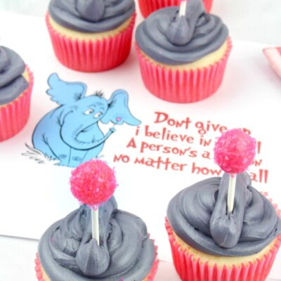Horton Hears a Who Cupcakes for Dr Seuss Food Ideas