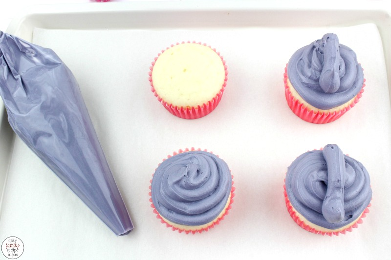 These Horton Hears a Who Cupcakes are so much fun to eat. They're a great way to add a tasty treat to your read across America day! Super cute Elephant Cupcakes that kids can make and love. Serve these for your next Dr Seuss Party Food.