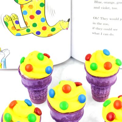 Dr Seuss Put Me In The Zoo Ice Cream Cone Cupcakes